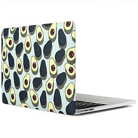 iDOO MacBook Schutzhülle / Hard Case Cover Laptop Hülle [Für 2016 MacBook Pro 13 Zoll mit Retina Display, mit/ohne Touch Bar und Touch ID: A1706 und A1708] – matt, Avocados