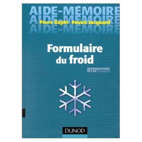 FORMULAIRE DU FROID. 11ème édition