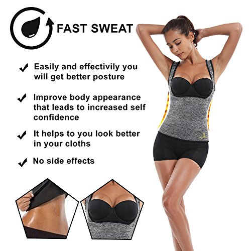dd8b8125efb Joyshaper Sweat Vest for Weight Loss Women Slimming Sauna Suit Waist Trainer  ...