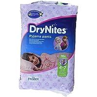 Huggies DryNites hochabsorbierende Pyjama-/ Unterhosen, Bettnässen Mädchen Jumbo Monatspackung 4-7 Jahre, 64 Stück