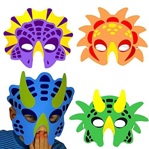 (German Trendseller - 8 x Dino Masken aus Schaumstoff ┃ für Kinder ┃ Dino Party ┃ Ideal Zum Kindergeburtstag und Karneval)