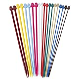 Set von 20 Stück 10 Größen Multicolor Kunststoff Stricknadeln Einzelnadelspiel