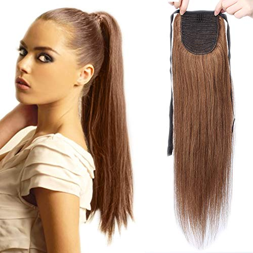 Sego extension clip coda di cavallo capelli veri naturali umani 50cm 20