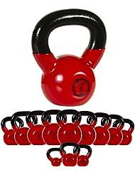 MOVIT® Kettlebell professionnelle en fonte avec revêtement en vinyle, haltère de boule, 12 VARIATIONS 2 kg jusqu'à 24 kg