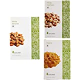 Amazon Brand - Solimo Dry Fruits Combo Pack - Almonds, Cashew & Raisins 250 gms each