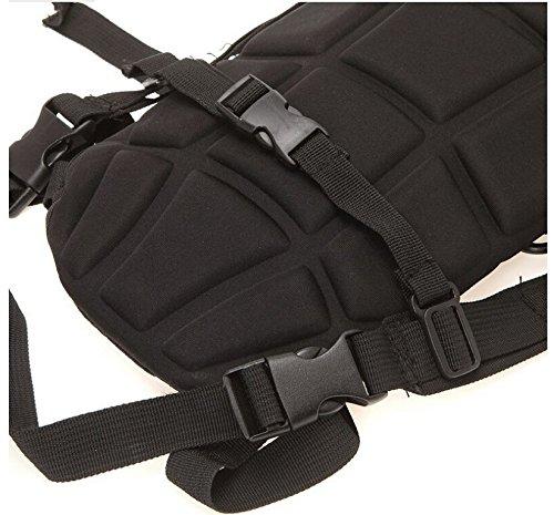Buwico Hohe Qualität Wasserdicht Tactical Military Rucksack Trinkblase Pack 3L Wasser Tasche für Outdoor Radfahren Camping Wandern Weiß - schwarz