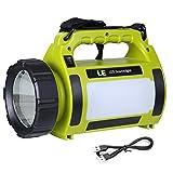 LE 1000lm LED Handscheinwerfer wiederaufladbare Akkulampe dimmbar 10W 3 Lichtmodi 2...