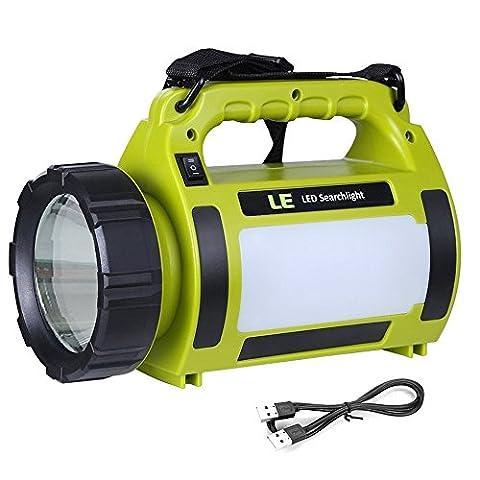 LE 1000lm Lanterne LED Rechargeable 10W, Projecteur Portable et Ultra