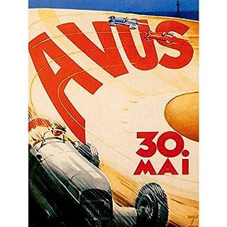 Bumblebeaver SPORT MOTOR AVUS BERLIN GERMANY VINTAGE POSTER ART PRINT Deutsche Jahrgang Kunstdruck