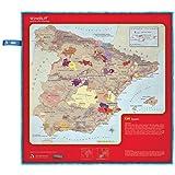 SOIREE HOME soireehome Chiffon Nettoyage Verres de vin Motif Espagne, Tissu, Rouge, 50x 50x 3cm