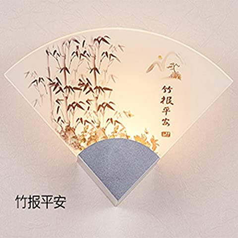 LLLDB Acrílico chino moderno de pared LED lámpara de cabeza ilustraciones luz salón dormitorio estudio Farolas , Pasillo Paz de