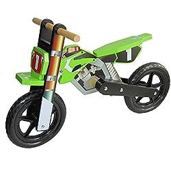Dunjo® bicicleta infantil de madera, Cross Pro, 15052,parece como una moto