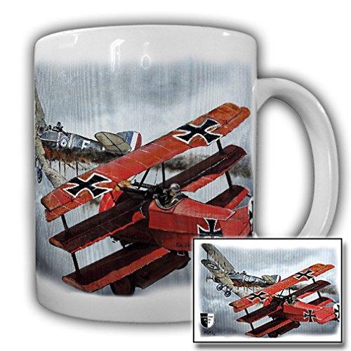 Tasse Lukas Wirp Roter Baron Manfred von Richthofen Flugzeug Ritter der Lüfte Gemälde Kunst #23477
