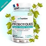 ULTRA Probiotiques | 8 souches, 40 milliards d'UFC | 60 gélules gastro-résistante | avec L-Glutamine, Coenzyme Q10 pour Digestion - Immunité - Intolérance | Fabriqué en France par Actinutrition