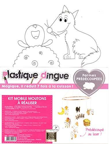 Graine Créative Kit Schrumpffolie - DIY Mobile Schafe -