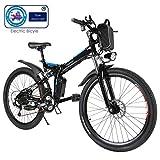 Speedrid Vélo de Montagne Pliable pour vélo électrique, 26/20 pneus Vélo électrique pour vélo Ebike avec Moteur sans Balai...