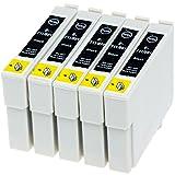 AfiD 5er Set Druckerpatronen zu EPSON T0711 für Epson Stylus SX 115, Epson Stylus SX 200, Epson Stylus SX 205, Epson Stylus SX 210, Epson Stylus SX 215, Epson Stylus SX 218, Epson Stylus SX 400, Epson Stylus SX 400, Epson Stylus SX 405 und mehr!