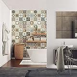 ambiance-live col-rv-0518_ 10x 10cm adesivi adesivi piastrelle, Multicolore, 10x 10cm, set di 24pezzi