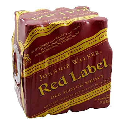 Johnnie Walker Red Label Blended Whisky 5cl Miniature - 12 Pack by Johnnie Walker