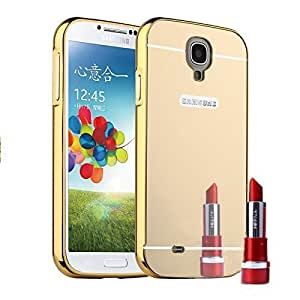 Droit Luxury Metal Bumper + Acrylic Mirror Back Cover Case For Samsung S5 Gold + Flexible Portable Thumb OK Stand by Droit Store.