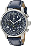 Wellington Men's Quartz Watch with Blue Dial Chronograph Display and Blue Stainless Steel Bracelet WN302-133