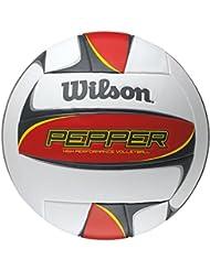 Wilson Pfeffer Outdoor Volleyball, rot