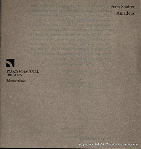 Programmheft AMADEUS von Peter Shaffer. Premiere am 1. März (Broadway Musicals Kostüme)