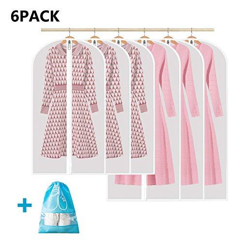 6 Stücke Kleidersäcke Kleidersack Staubschutz 3 von 120 x 60 cm und 100 x 60 cm+1 Stücke Geschenk Schuhbeutel-Anzugsack Kleidersack Staubbeutel