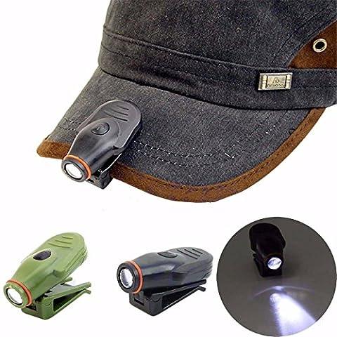Bazaar Clip sur LED cap chapeau lampe de lumière mini-torche phare pêche camping de chasse en plein air
