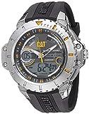 Reloj para Hombre, de Cuarzo, Acero Inoxidable y Goma Anadigit Casual de Cat, Color: Negro (Modelo: ma14521131)