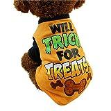 INTERNET Ropa para Perros, Camisetas Lindas del Animal Doméstico De Halloween Traje Pequeño Cachorro...