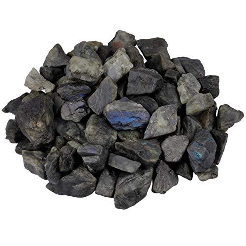 rockcloud Rauen Steinen Natur Fluorit Heilstein Quarz für Schmuck entwerfen,, cabbing, Meditation Labradorite 1 lb (Rauen Quarz Kristall)