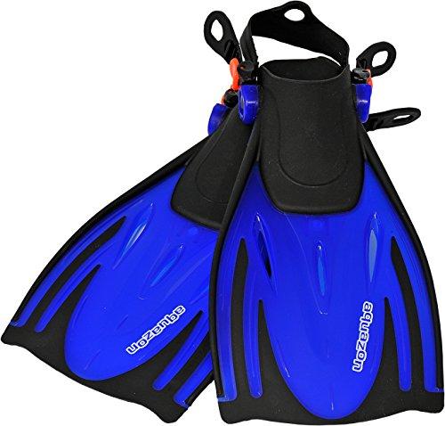 AQUAZON Alicante Verstellbare Flossen, Schnorchelflossen, Taucherflossen, Schwimmflossen für Kinder, Jugendliche zum Schnorcheln, Schwimmen, Size:32/37, Colour:Blue -