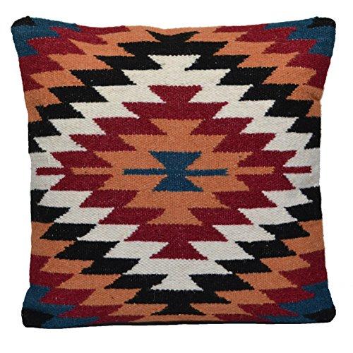Türkischen Kelim Kissen (Kelim Kissen 50cm x 50cm handgefertigt Wolle Baumwolle Jute indischen Persischen Marokkanische)