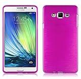 Cadorabo Coque pour Samsung Galaxy A7 2015 (5) , ROSE VIF Design METAL...