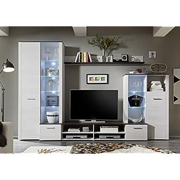 avanti trendstore wohnwand aus sibiu l rche dekor led. Black Bedroom Furniture Sets. Home Design Ideas