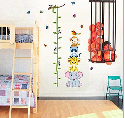 Halloween Enfant Animaux Hauteur Mesure//croissance Tableau mur Stickers enfants de rectangle en pour No/ël