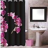 SIDCO ® Duschvorhang Textil Badewannenvorhang Wannenvorhang 180 x 200 Lanyu Polyester