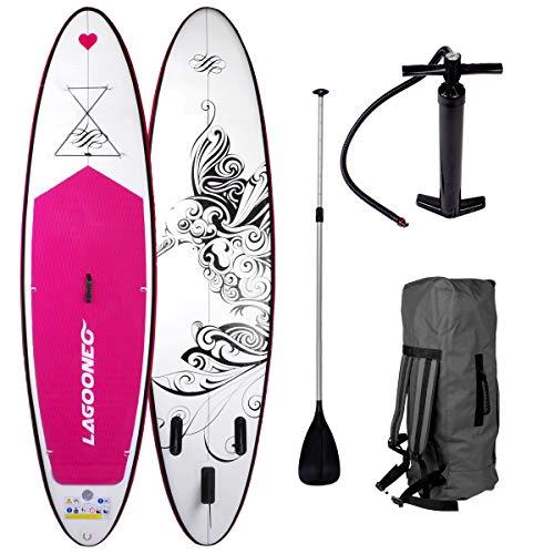 """SUP Board Stand up Paddling Surfboard\"""" Kolibri\"""" 300x76x15cm aufblasbar Alu-Paddel Pumpe Rucksack gewebtes Drop-Stitch 115KG Tragkraft"""
