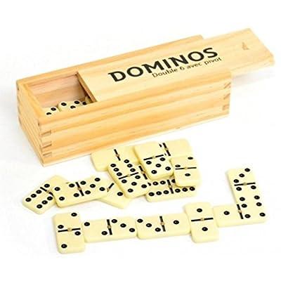Dominos en bois (avec Boite de rangement)