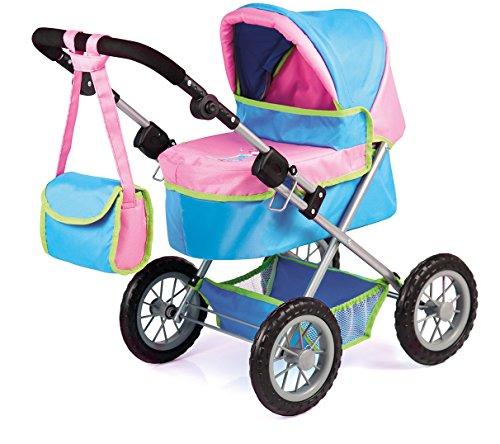 Bayer Design 1309000 - Puppenwagen Trendy, türkis/rosa