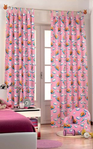Original Disney Winnie Puuh Pooh&Tiger 1 St.XXL Fertig-Schlaufenschal/Gardine/Vorhang L 290cm x B 140cm Pink NEU Baumwolle 2013 - 2013 Neu Baumwolle