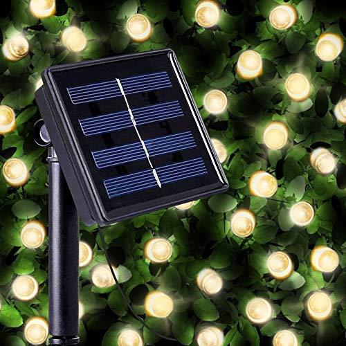 100 Luci Decorative LED ad Energia Solare Bianco Caldo, luci solari natalizie da esterno da SPV Lights: Le Luci Solari e Specialisti di Illuminazione Solare (Libero 2 Anni Di Garanzia)