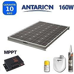 PAN160WMPPT - KIT PANNEAU SOLAIRE POUR CAMPING CAR 160W ANTARION + RÉGULATEUR MPPT