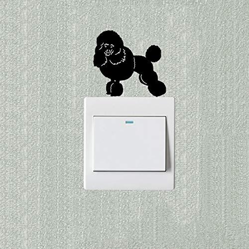 lsweia 7pcs Miniatur Pudel niedlichen Haustier Hund Cartoon Schalter Aufkleber Vinyl Dekoration (Niedlichen Pudel)