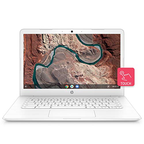 HP Chromebook 14-Inch Thin and Light Touchscreen Laptop with 180-degree Hinge(Celeron/4GB/64GB eMMC Storage/Chrome OS/Backlit/Touch/Snow White/1.5kg), 14-ca003TU