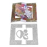 FNKDOR Matrices de Découpe #08,Scrapbooking Dies, Bricolage Album,Bricolage Embossing Card Album de Scrapbooking pour Fête Marriage Anniversaire (A6)