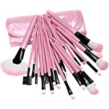 J Makeup Brush Cosmetic Set Kit With Makeup Brushes Pouch 32Pcs Pink