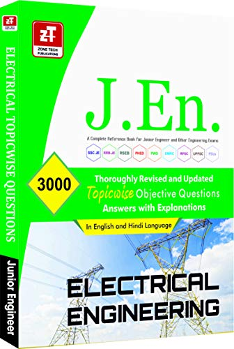 SSC JE (Junior Engineer) : ELECTRICAL ENGINEERING Topic wise MCQs Practice Book ( In English & Hindi)