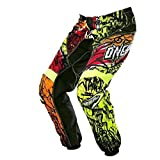 O' Neal Element MX pantaloni Vandal Nero Neon Motocross Enduro Offroad Quad, 0128-6